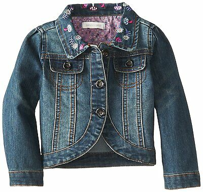Pumpkin Patch Girl's Blue Denim Embroidered Jacket, Size: 3  *FREE UK P&P*
