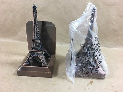 New Open Box - Williams Sonoma Eiffel Tower Book Ends - Metal - See Pictures