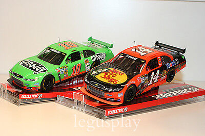 "Slot SCX Scalextric A10146S300 & A10145S300 Chevrolet Impala ""Go Daddy/Mobil 1"""