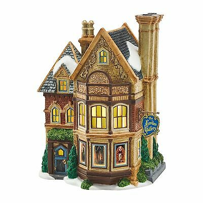 """Department 56 Dickens Village """"THE LONDON GALLERY"""" New 2016 FREE SHIPPING"""
