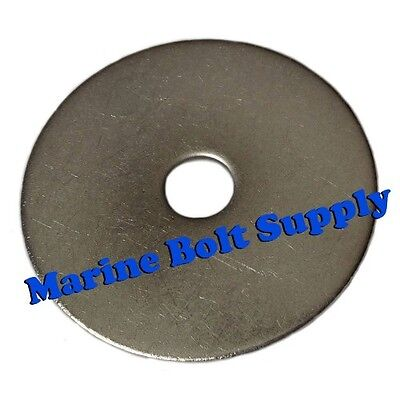"""Standard Type 18-8 Stainless Steel Fender Washers (Sizes #6 to 1/2"""")"""