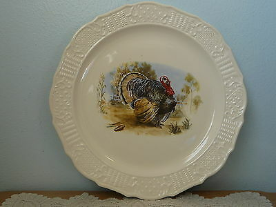 "American Traditional Ironstone 15"" Turkey Platter Canonsburg Pottery EUC"