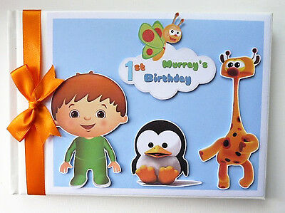 Personalised Baby Tv Boy/girl /first/1St Birthday Guest Book Any Design