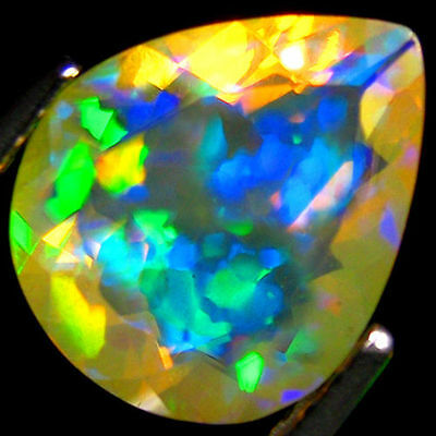 1.62Ct  RAINBOW MULTI FLASHY 3D HONEY COMB FACETED WELO OPAL