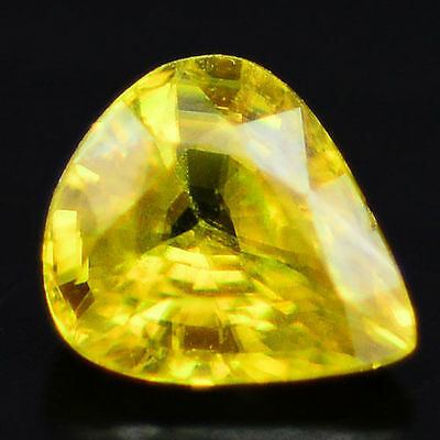 1.46 Ct Aaa! Natural! Yellow Ceylon Sphene Pear