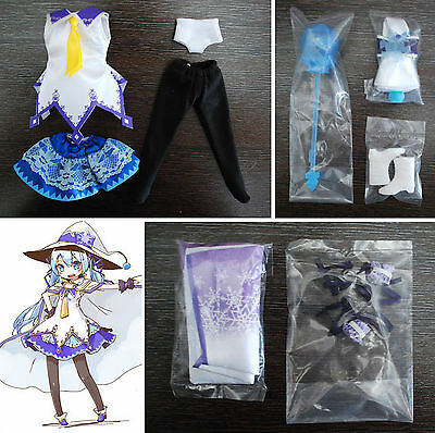 Loose cosplay Magical Snow Vocaloid Miku Outfit Pullip Blythe Azone Dal 1/6 Doll