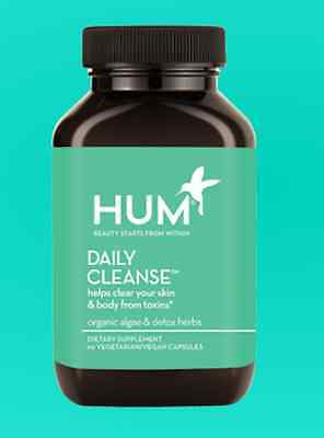 Hum Nutrition Daily Cleanse Supplements Detox ~ 60 capsules ~ NEW AUTHENTIC