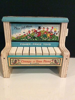 Vintage 1969 Fisher Price Change A Tune Piano 910 Toy