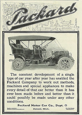 1906 Packard Motor Vehicle Car Automobile Original Print Ad
