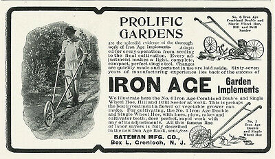 1904 Iron Ace Garden Implements Vintage Original Print Ad