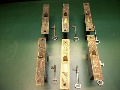 Vintage-Antique-Full Mortise Bit (Skelteon) Decorative  Lock (Choice Of 1 Only)