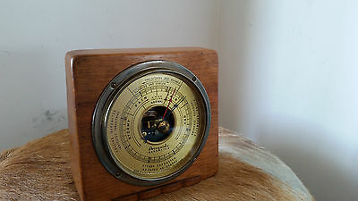1930s Airguide Barometer, Brass & Mahogany Case by Fee and Stemwedel