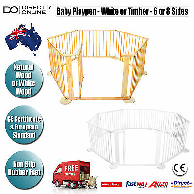 Baby Playpen Safety Play Pen Gate Barrier Toddler Kids Puppy Outdoor Indoor New