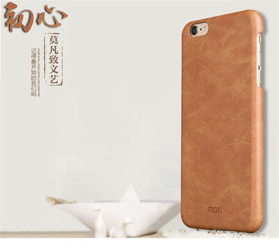 """Luxury Genuine Leather Back Ultra-thin Case Cover For iPhone 6 6S 4.7"""" / 7 Plus"""
