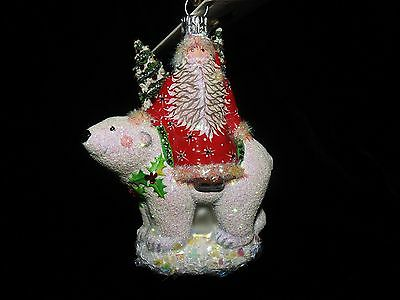 Patricia Breen Jeweled Polar Claus in Red And Holly
