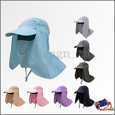 Unisex Face Neck Cover Sunshade Protection Hat Fishing Mosquito Sun Outdoor Cap