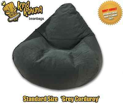 Grey Beanbag Chair Quality New Large Lounge Soft Gaming Cinema Theatre