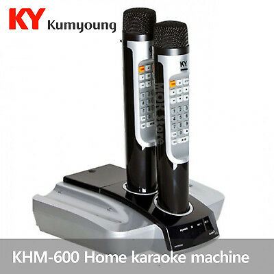 Kumyoung KHM-600 Home Party Portable Korean Karaoke Singing Machine System -2mic