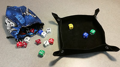 Dungeon Werks Suede Leather Collapsible Dice Tray