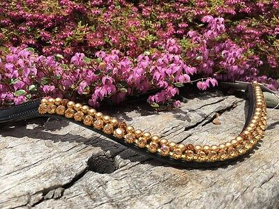 Competition Browband Gold Crystal Pearl Browband Show Browband Full Cob Pony