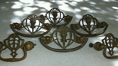 6 UNIQUE  URN MOTIF. Antique Brass  Drawer/cabinet/chest/Pulls