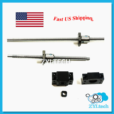 ZYLtech Precision (TRUE C7) Ball Screw 12mm 1204 w/ BF/BK10 End Support - 550mm
