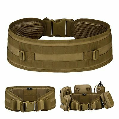 Adjustable Survival Tactical Emergency Padded Belt CQB Rescue Rigger Military