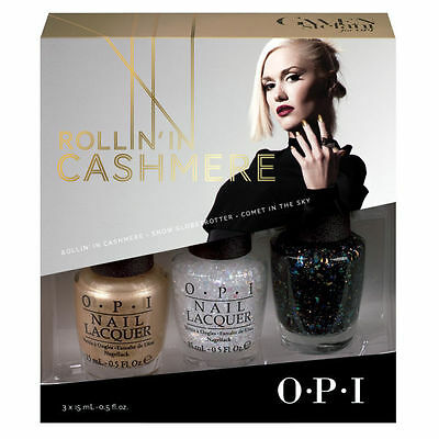 3 OPI Gwen Stefan Rollin in Cashmere Holiday Collection Trio Limited Edition