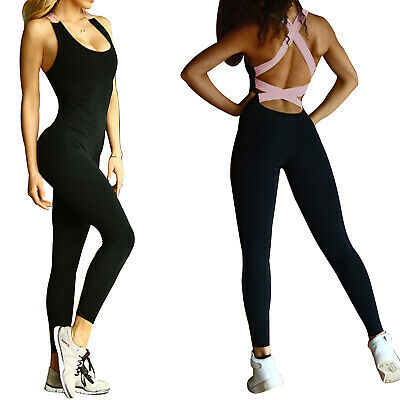 Women's Sports YOGA Running Fitness Workout Jumpsuit Bodysuits Athletic Clothes