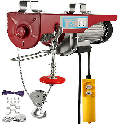 800KG Electric Hoist Winch Lifting Engine Crane Gantry Pulley Cable BRAND NEW