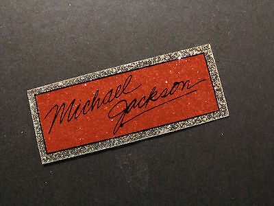 Very Small Michael Jackson Glitter Vintage Sticker Us Made  Red/silver