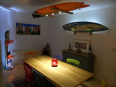 LED Surfboard ceiling rack