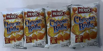 909973 4 x 198.5g BAGS OF HERR'S CHEESE BALLS - OVEN BAKED WITH REAL CHEESE!