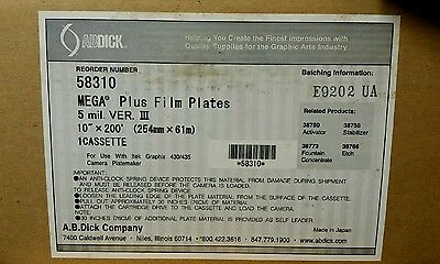 "NEW 10""x200' Mega Film Plus Plates 58310"