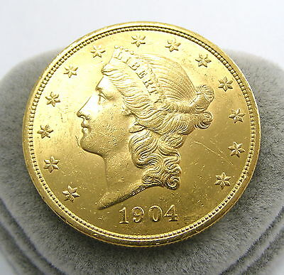 20 Dollars Gold Münze Liberty Head Double Eagle 1904 - Kapitalanlage