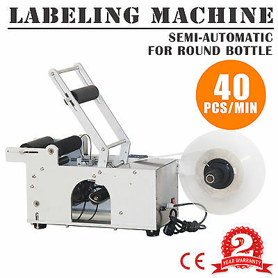Semi-Automatic High-Accuracy PLC Intelligent Round Bottle Labeling Machine
