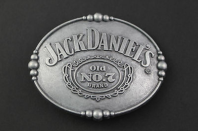Jack Daniels Oval Grey Old No 7 Belt Buckle Metal
