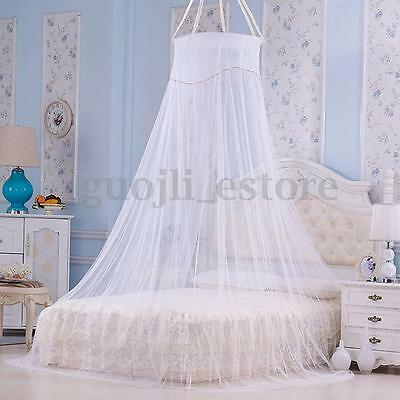 White Lace Bed Mosquito Netting Mesh Canopy Princess Round Dome Bedding Net : mesh canopy - memphite.com