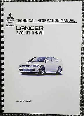 Mitsubishi Lancer Evo Vii Technical Information Manual Reprinted Comb Bound