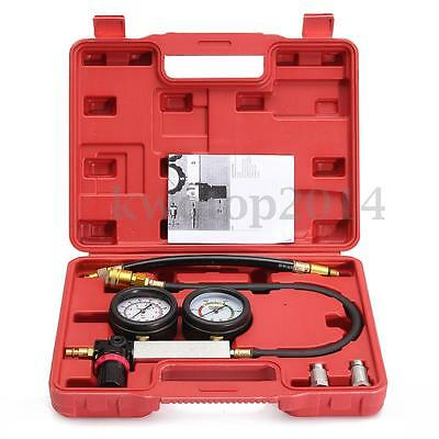 Engine Car Cylinder Leak Down Leak Tester Dual Gauge Diagnostic Detector w/Case