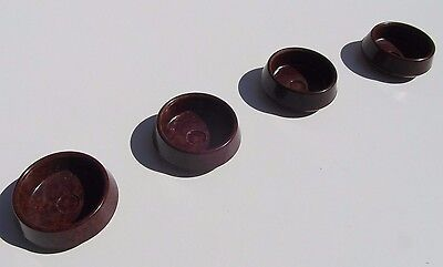 4X Furniture Rests Castor Floor Carpet Protectors Feet Cup Savers Bakelite [R4]
