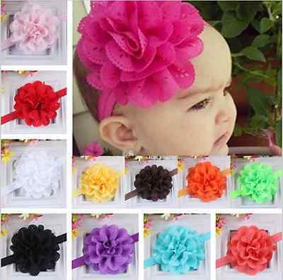 Lace Flower Kids Baby Girl Toddler Headband Hair Band Headwear Accessories