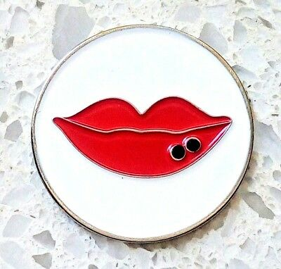 anneys - **GOLF  BALL  MARKERS - hot lips -24mm diameter**