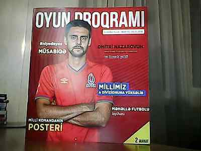 Azerbaijan vs Norway Norge - 2016 - rare official programme + mint unused ticket