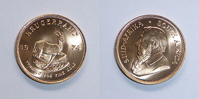 KRUGERRAND 1oz FINE GOLD COIN 1974 - FREE NEXT DAY SPECIAL DELIVERY