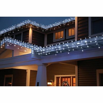 Holiday Time 70 Count Random Twinkle Cool White Led Icicle
