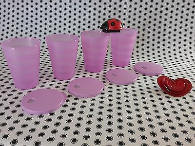 NEW Tupperware  Expressions/Tumblers  Picnic  Beach  Kids  Purple  ❤