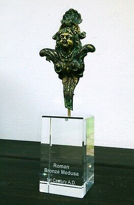 Roman bronze Medusa fitting