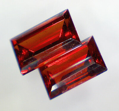 2 GRENAT PYROPE taille baguette 5x3 mm 0,82 cts - Saphirboutique