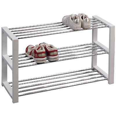 HomeTrends4You 841126 Shoe Bench 80 x 50 x 30 cm White Chrome-Plated - UK SELLER